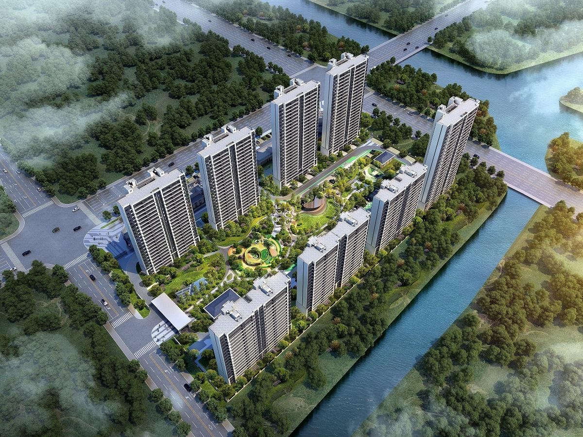 旭辉运河公元项目沙盘图