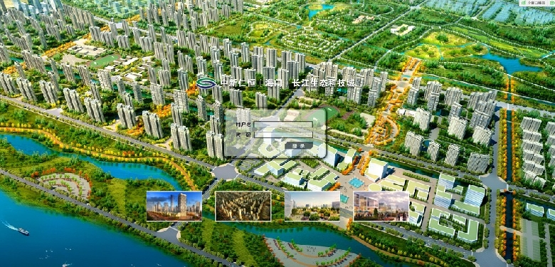 海门中新仁恒生态城规划图局部