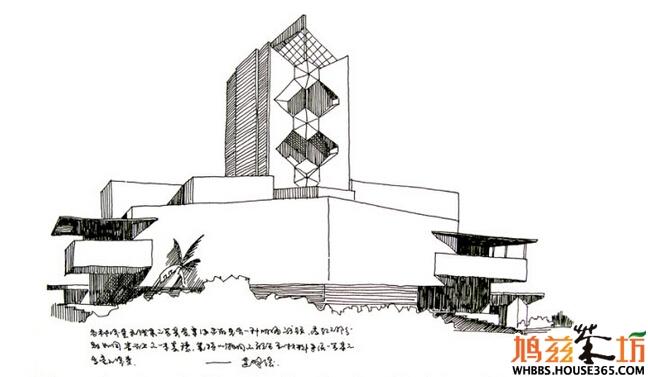 手绘建筑大师作品-赖特